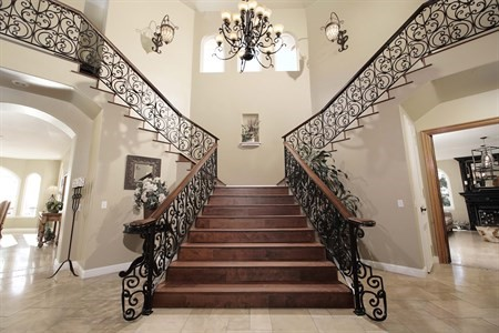 Grand entrance staircase Arroyo grande mansion