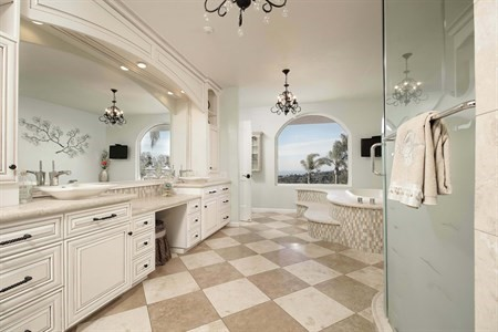 Master Bathroom, Ocean Views, Jacuzzi tub, wine fridge